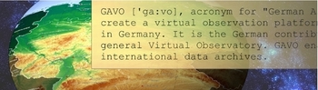 [GAVO text on German map and sky background]